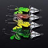 Jamisonme 4 unids Caza de Goma señuelos de Pesca Suave Spinner Bass Cebo Weedless Hook & Hellip Fishing