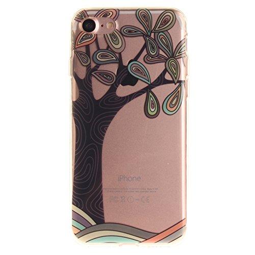 MOONCASE iPhone 7 Coque,Etui de Protection Coque Slim Antidérapant Case en TPU Gel Avec Absorption de Chocs pour iPhone 7 TX20 TX09