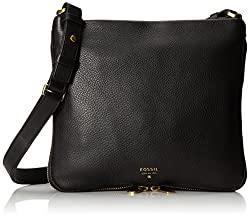 Fossil Preston Crossbody Womens Handbag (Black) (ZB5874001)