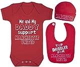 Baby-Set mit Body, Mütze und Lätzchen mit der Aufschrift
