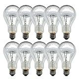 10 x Glühbirne 200W klar E27 Glühlampen Glühbirnen Glühlampe 200