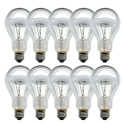 10 x Glühbirne 200W klar E27 Glühlampen Glühbirnen Glühlampe 200 Watt Birne -