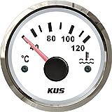 KUS - Indicador de temperatura del agua impermeable de 40 a 120º C con luz de fondo de 12 V/24 V 52 mm