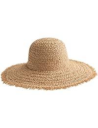 SUSHI Sombrero de Paja Elegante para Mujer - Vacaciones en la Playa Sombrero  de Sol Sombrero 46e4f61ff77