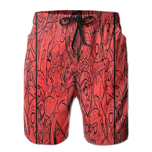 Bañadores de Verano para Hombre Zombies de Secado rápido Pantalones Cortos para Nadar Boader Shorts...
