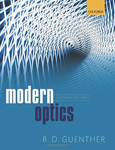 Modern Optics por B. D. Guenther