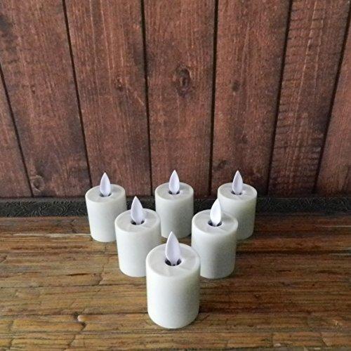 6pcs/Set baile llama–pilar LED té luz vela, marfil, 1–1/2