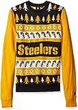 FOCO NFL Pittsburgh Steelers Wordmark Ugly Sweater, XX-Large