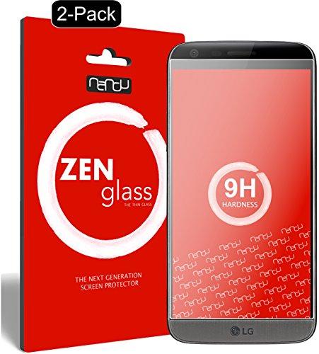 nandu I ZenGlass [2 Stück] Flexible Glas-Folie für LG G5 Panzerfolie I Bildschirm-Schutzfolie 9H I (Kleiner Als Das Gewölbte Bildschirm)