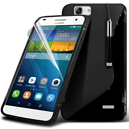 black-huawei-ascend-g7-case-elegant-clasic-s-line-hydro-wave-durable-silicon-skin-case-cover-retract