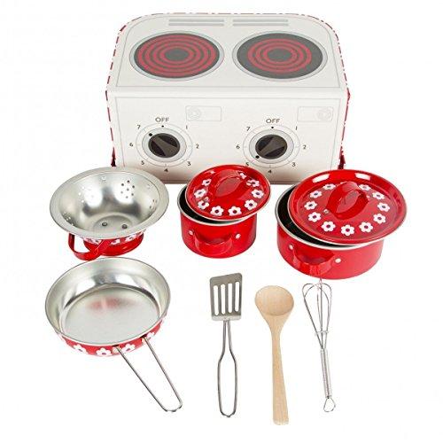 Sass & Belle Kinderspielzeug Kochset im Koffer Bella Küche