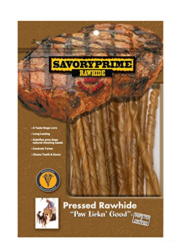Savory Prime 20-Pack Twist Sticks, 5-Inch, Natural