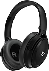 TaoTronics Noise Cancelling Kopfhörer Bluetooth Kopfhörer Over Ear mit aktiver Rauschunterdrückung 25 Stunden Laufzeit, eingebautes Mikro CVC 6.0, duale 40 mm Tieftontöner, Faltbare Ohrhörer