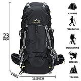 50L Trekkingrucksack Outdoor Wanderrucksack Reiserucksack Rucksack Mit Regenabdeckung Für Wandern, Bergsteigen, Reisen Sport und Camping