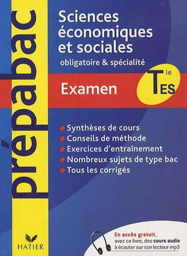 Sciences économiques et sociales Tle ES obligatoire et de spécialité
