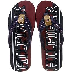Tommy Hilfiger Hilfiger Stripe Beach Sandal, Chanclas para Hombre, Azul (Midnight 403), 42 EU
