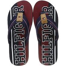 3f683a0c4b48cf Tommy Hilfiger Weiß Logo Flip Flops. Tommy Hilfiger Herren Hilfiger Stripe  Beach Sandal Zehentrenner