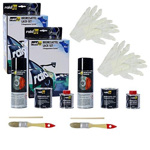 Preisvergleich Produktbild 2x raid hp Bremssattellack Bremssattel Lack Bremsenlack Bremssattelfarbe Bremssattel Farbe 6-teilig blau
