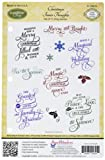 Justrite Papercraft gomma Solo Rite Cling Stamp Set 14 x 21,6 cm, Natale interno pensieri