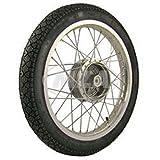 SIMSON-Komplettrad 1,6x16 Zoll, Alufelge poliert + Chromspeichen, mit Heidenau-Reifen K36/1 fertig montiert