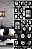 Stylischer Fotovorhang PHOTO CASCADE schwarz variierbar Raumteiler