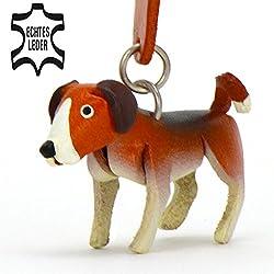 monkimau Beagle perro piel llavero Figura marrón blanco 5cm pequeño en Deko perro de caza accesorios para niños