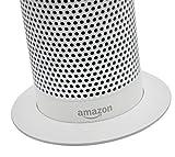 Soundbass – Premium Amazon Echo Metallständer (Weißer Ständer) | Diskretes High-End Sockeldesign | Außergewöhnliche Verbesserungen in der Stabilität | Farblich abgestimmte Oberfläche | Perfekter Schutz für Alexa