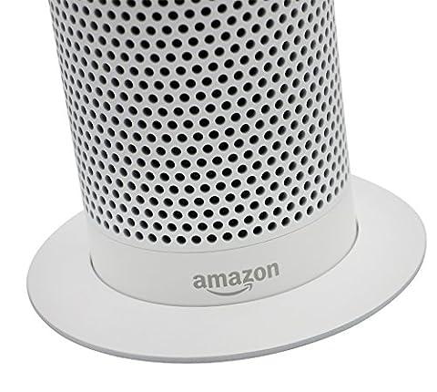 Soundbass – DELUXE DESIGN Amazon Echo Weißer ständer | Diskretes High-End Sockeldesign | Außergewöhnliche Verbesserungen in der Stabilität | Farblich abgestimmte Oberfläche | Perfekter Schutz für Alexa