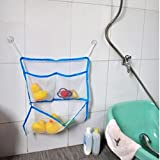 Gaddrt Kreatives faltendes umweltfreundliches Baby-Badezimmer Mesh Bag Kind Bad Spielzeug Aufbewahrungstasche (Blau)
