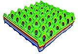 Shorefields Eiertablett Eton, aus Kunststoff, für Eier, je 1pro Farbe, 6Stück, braun, orange, grün, gelb, Dunkelblau, Hellblau,