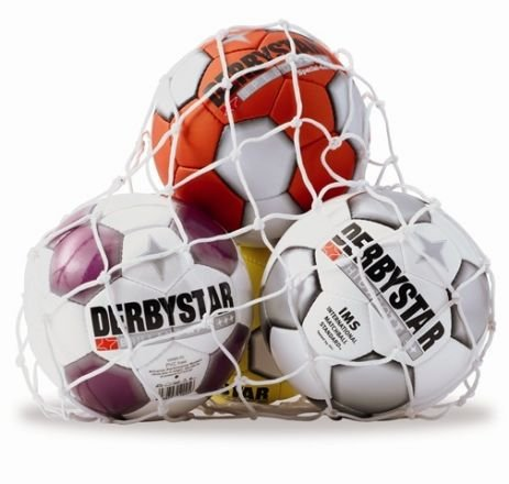Derbystar FUSSBALL BAUMWOLL-BALLNETZ / 3 BÄLLE UNI, NN