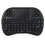 Esynic 565EX - Mini tastiera wireless retroilluminata ricaricabile con mouse touchpad, batteria integrata per Box Smart TV, Google Android, XBMC, Windows Phone, PC Portatile e Raspberry Pi PS3