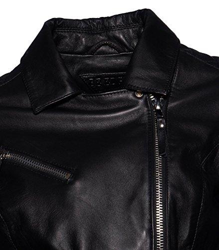 BE EDGY Damen Lederjacke Gipsy Bikerjacke Jacke Leder – Leder - 3
