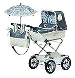 Jose Cuevas Jose cuevas8200090x 40x 90cm cromo de la muñeca cochecito de bebé con bolsa y plegable paraguas