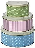 Tala Retro Design Keksdosen rund PARENT 1950er-Jahre-Muster blau