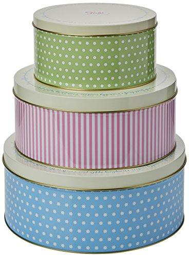 Tala Retro Design Keksdosen rund _ PARENT 1950er-Jahre-Muster blau