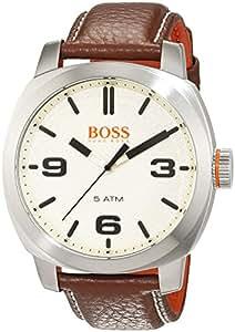 Hugo Boss Orange Cape Town Men's Quartz Analogue Classic Brown Leather Strap 1513411