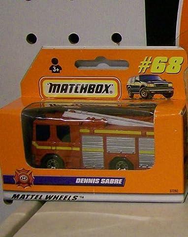 1998 MATCHBOX DENNIS SABRE FIRE ENGINE TRUCK #68 by Matchbox