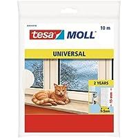 Tesa-Moll Universal Abdicht-Schaumstoff 10 m, weiß, 15 mm breit