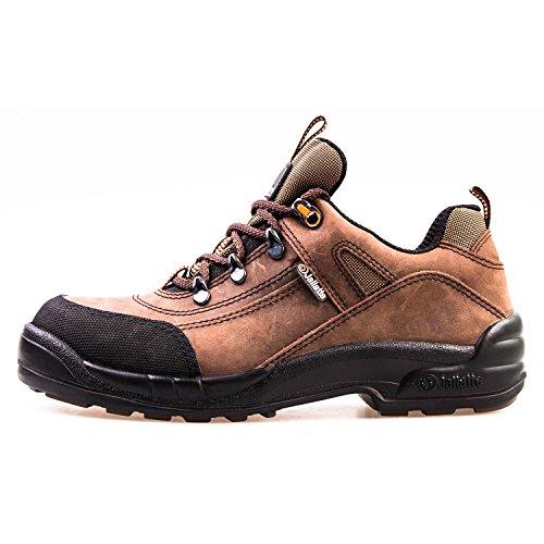 Sicherheitsschuh S3 HRO Jalatte® LOG298 Braun Herren - metallfrei, Schutzkappe aus Komposit, durchtrittsicher, hitzbeständige SOhle (45) -
