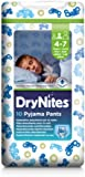 Huggies DryNites Boys Pyjama Pants - Age 4-7 (38-66 lbs/17-30 kg), 3 x Packs of 10 (30 Pants) (Design Varies)