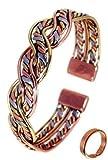 The Online Bazaar Unisex Magnetischer Drei Farben Armband mit Glatte Oberfläche Magnetring Kombi Geschenkset - LARGE ring size: 22-25mm