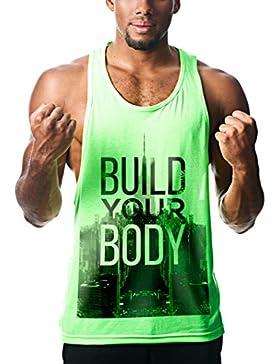 Camisetas de tirantes entrenamiento hombre fitness gimnasio running motivacion