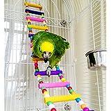 Holz-Vogeltreppe, Haustierspielzeug für Käfige, für Papageien, Aras, Graupapageien, Wellensittiche, Sittiche, Nymphensittiche, Hamster und Ratten