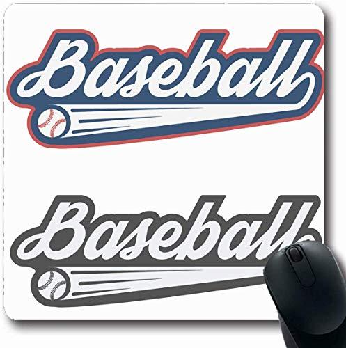 Luancrop Mousepad Längliche Spieler Softball Vintage Baseball Label Abzeichen Sport Toto Erholung Retro Grafik Emblem Team Uniform Büro Computer Laptop Notebook Mauspad, rutschfeste Gummi -