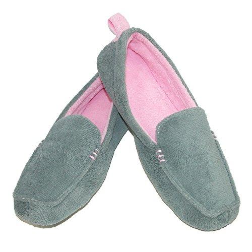Dearfoams , Chaussons pour femme One Size Shale Grey
