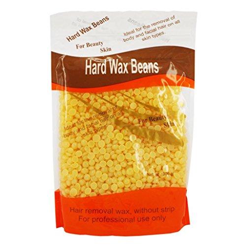 Haarloser Sommer! Hautpflege Enthaarungs-Perle Hartwachs Brasilianische Granulat Heiße Film Haarentfernung Wachs Bohne, 10 Unze / 300g (Honig)