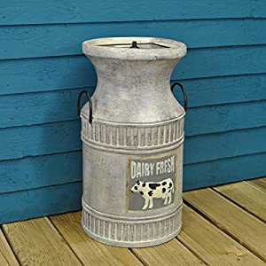 Milk Churn Fountain Outdoor Water Feature (Solar) by Smart Solar
