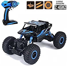 JVM Rock Crawler 1:18 Scale 4Wd 2.4 Ghz 4X4 Drift Waterproof Remote Controlled Monster Truck (Random Color)