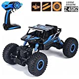 Expellant Auto Dirt Drift Waterproof Remote Controlled Rock Crawler RC Monster Truck, Four Wheel Drive, 1:18 Scale 2.4 Ghz_Blue(Color May Vary)
